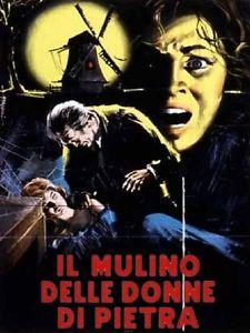 Cartel original italiano de la película El molino de las mujeres de piedra, de Giorgio Ferroni