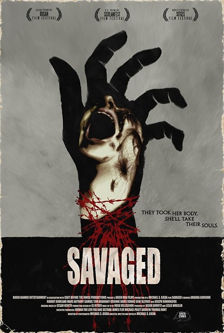 Póster alternativo para la película Savaged