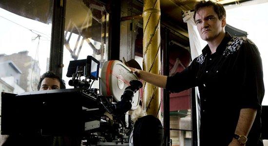 Una imagen de Quentin Tarantino rodando