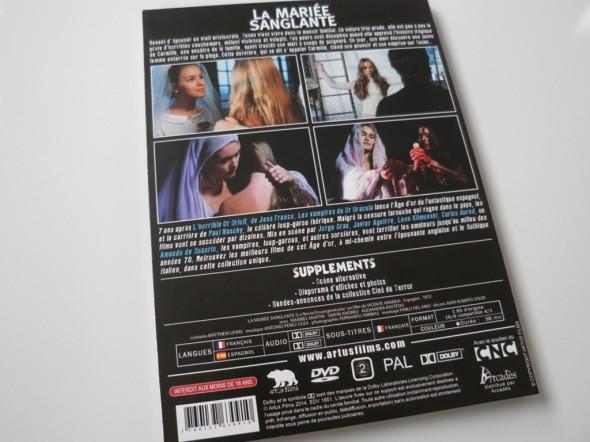 Digipack La novia ensangrentada de Artus Films