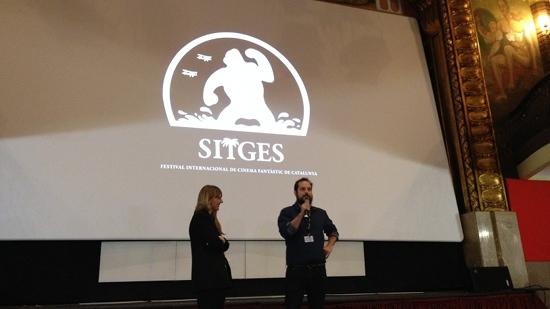 Carlos Vermut presentando Magical Girl en Sitges 2014