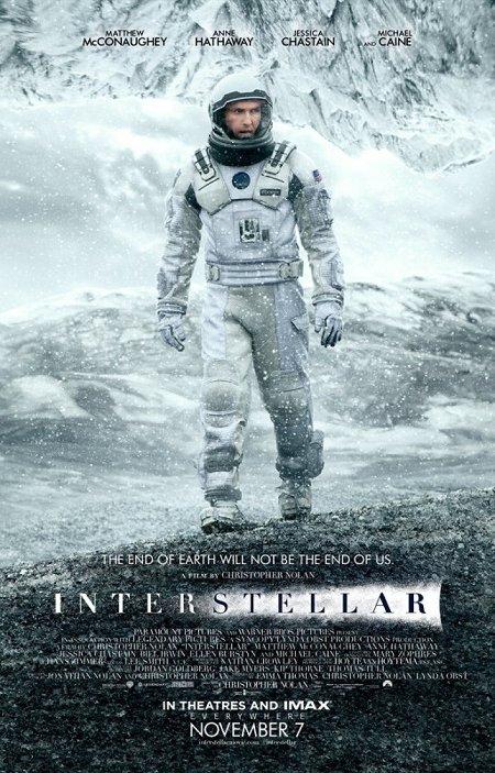 Póster de la película Interstellar, de Christopher Nolan