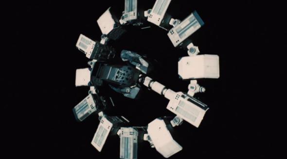 Una nave de la película Interstellar