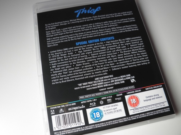 Thief (Ladrón), de Michael Mann, Blu-ray por Arrow Films