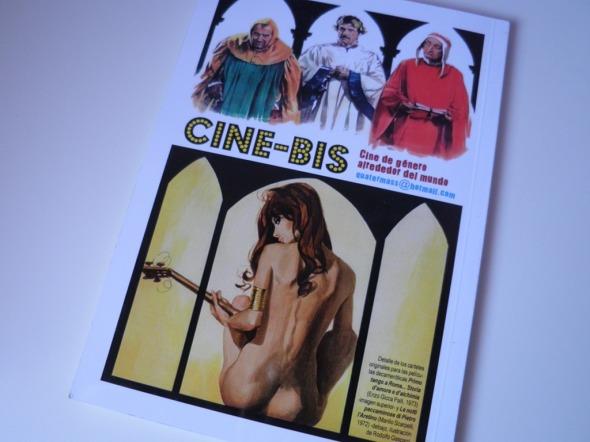 Contraportada del número 4 del fanzine Cine-bis