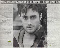 Daniel Radcliffe en los periódicos de Horns