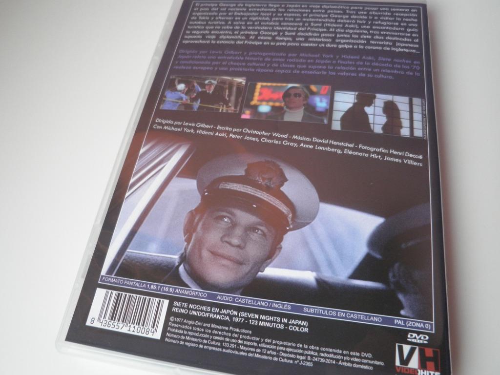 Siete noches en Japón contraportada dvd videohits