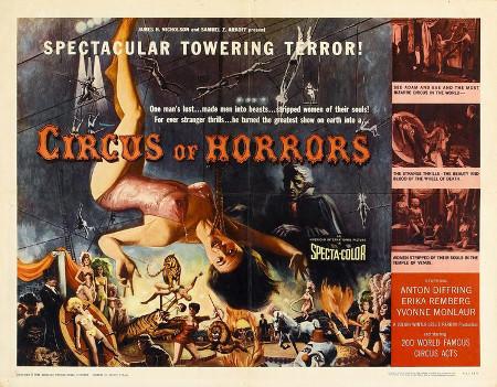 Imagen promocional del libro Carnaval de Sangre. Cine de Terror y Circo