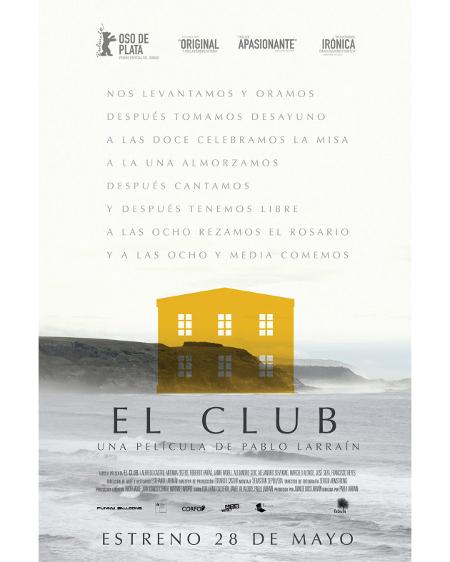 Póster de la película El club, dirigida por Pablo Larraín