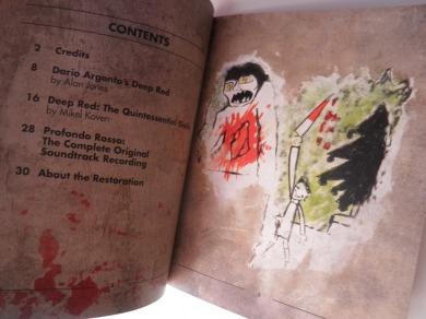 Deep Red Arrow Films Limited Edition libreto interior