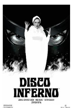 Póster del cortometraje Disco Inferno, dirigido por Alice Waddington