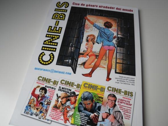 Contraportada del número 5 del fanzine Cine-Bis