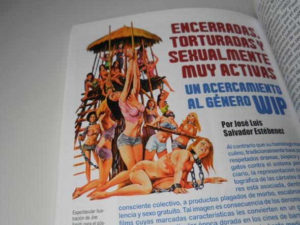 Una imagen del interior del número 5 del fanzine Cine-Bis