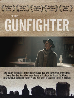 Póster del cortometraje The Gunfighter, dirigido por Eric Kissack