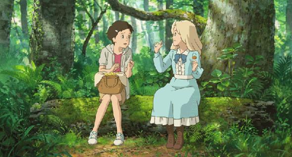 """Una imagen de El recuerdo de Marnie, con nuestra protagonista y su """"amiga"""", Marnie"""