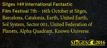 Imagen promocional del festival de Sitges de 2015