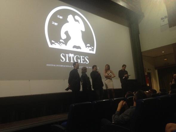 Productor y protagonista de Inside presentando la película en Sitges 2016