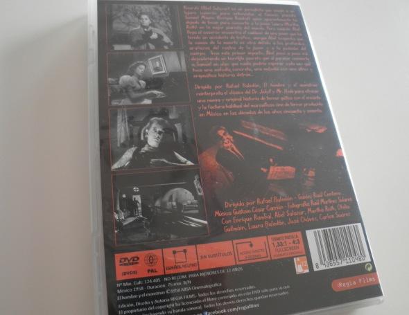 El hombre y el monstruo contraportada DVD