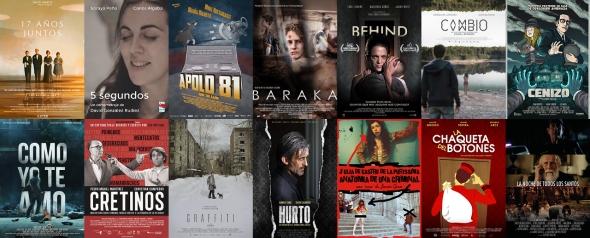 Carteles de los cortometrajes exhibidos en Cortopilar 1