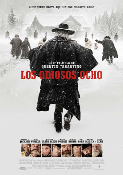 Cartel español de Los odiosos ocho (The Hateful Eight), de Quentin Tarantino