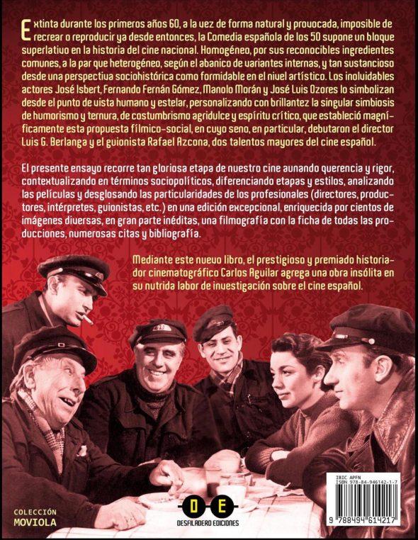 Contraportada del libro Cine cómico español 1950-1961. Riendo en la oscuridad