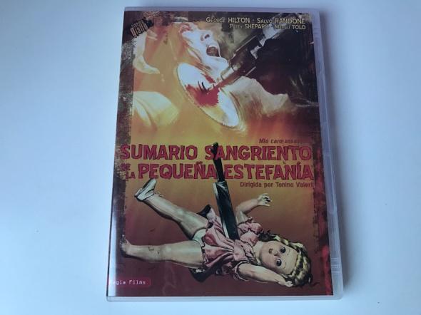 Portada del DVD de Sumario sangriento de la pequeña Estefanía
