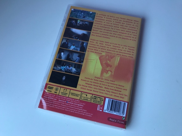 Trasera del dvd de Sumario sangriento de la pequeña Estefanía