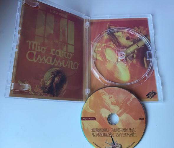 Interior del dvd de Sumario sangriento de la pequeña Estefanía