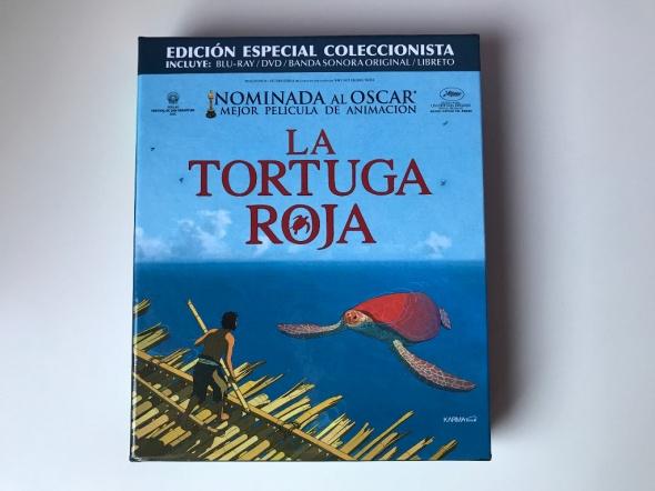 Portada de la Edición Coleccionista en Blu-ray de La tortuga roja