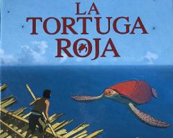 Una imagen de la portada de La tortuga roja