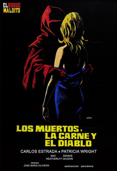 Portada del DVD de Los muertos, la carne y el diablo, dirigida por José María Oliveira