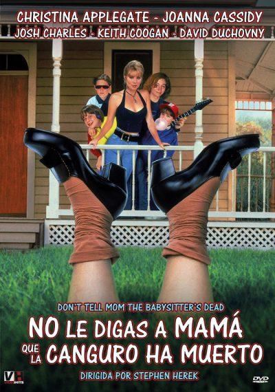 Portada del DVD de No le digas a mamá que la canguro ha muerto, editado por Regia Films