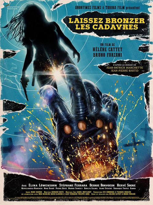 Póster de Laissez bronzer les cadavres, dirigida por Hélène Cattet y Bruno Forzani