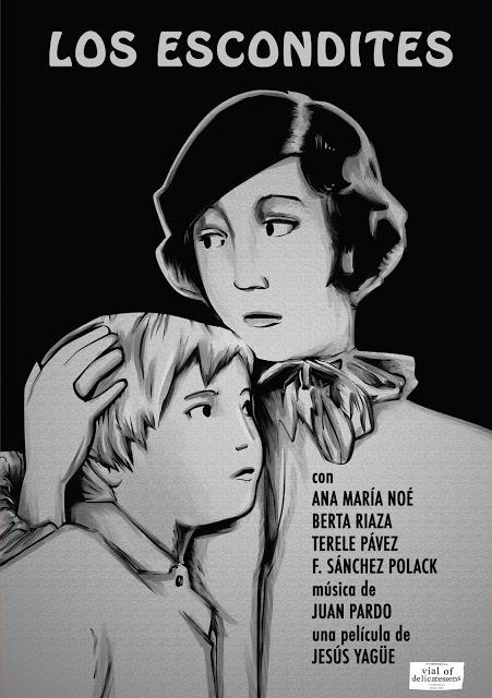 Portada del DVD de Los escondites (Jesús Yagüe), editada por Vial of Delicatessens