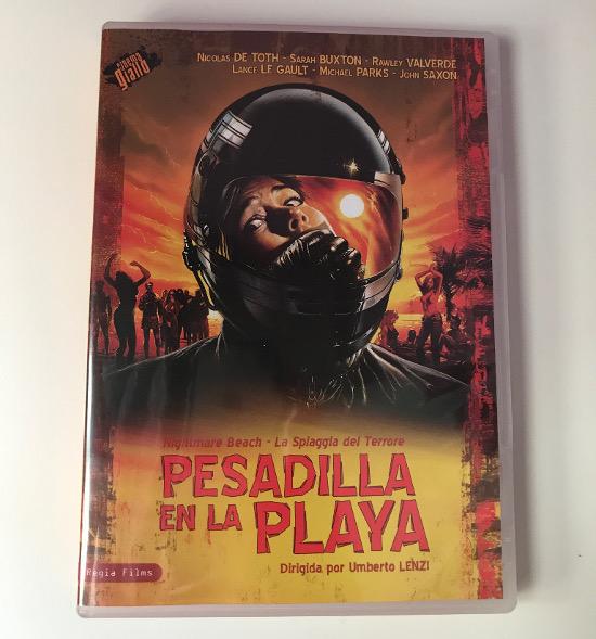 Portada del DVD Regia Films de Pesadilla en la playa
