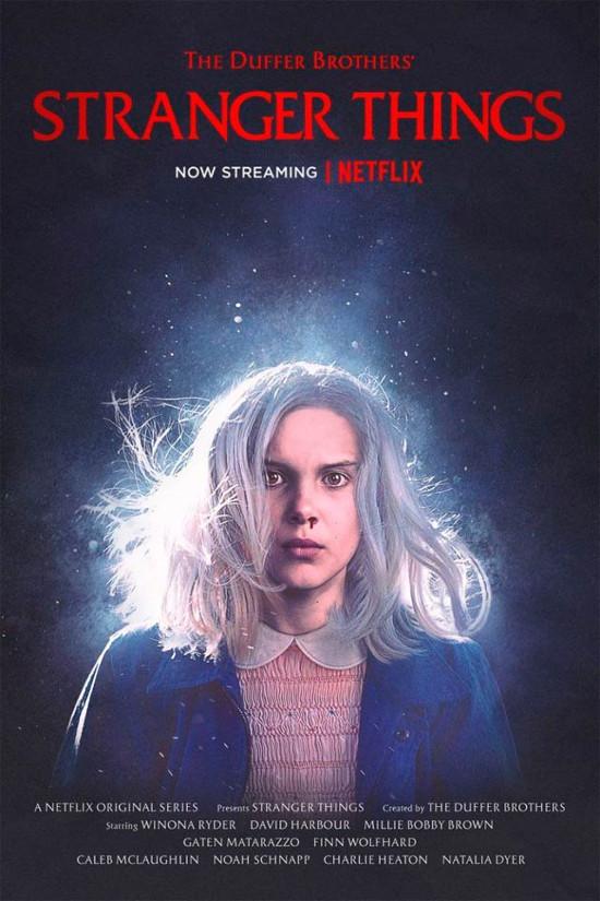 Cartel promocional de la segunda temporada de Stranger Things