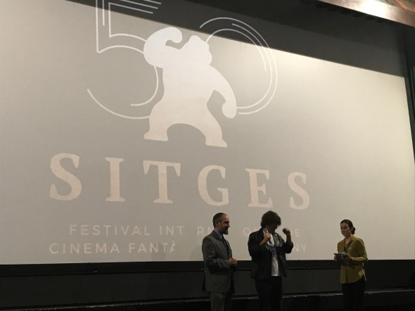 Can Evrenol durante su presentación de Housewife en Sitges 2017