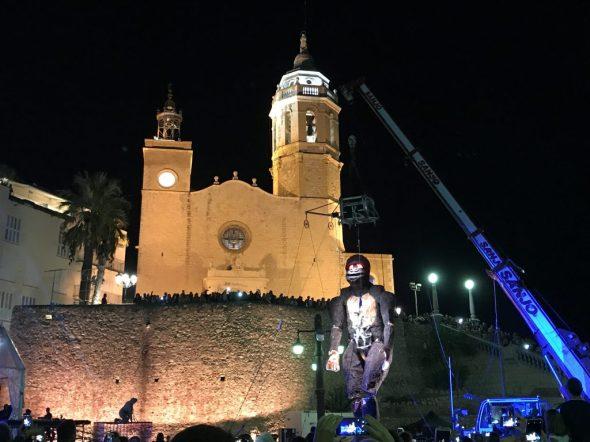 Espectáculo de La Fura dels Baus en Sitges 2017