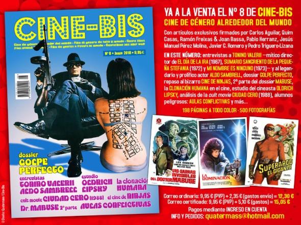 Hoja promocional del número 8 de Cine-Bis