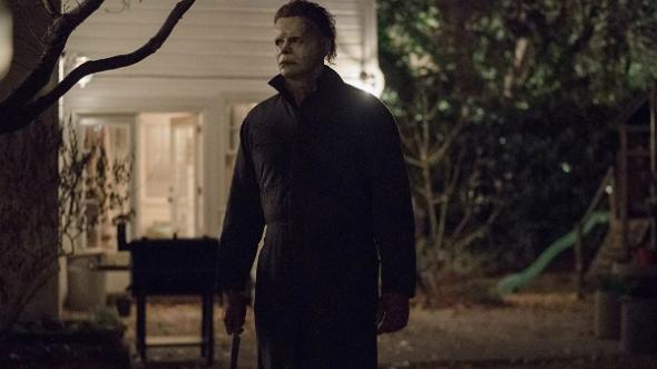 Una imagen de la película Halloween, dirigida por David Gordon Green