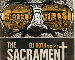 Un extracto del cartel alternativo de la película The Sacrament, dirigida por Ti West