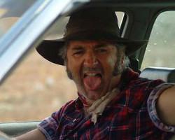 Una imagen de Micky Taylor (John Jarratt) en Wolf Creek
