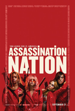 Póster de Assassination Nation, dirigida por Sam Levinson