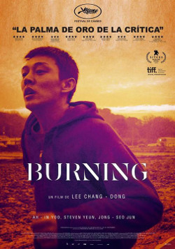 Póster de Burning, dirigida por Lee Chang-dong