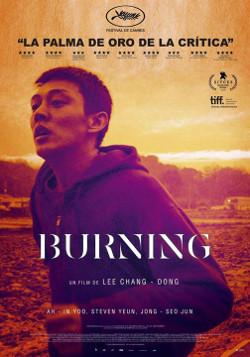 Póster de Burning, dirigida por Lee Chang-dong