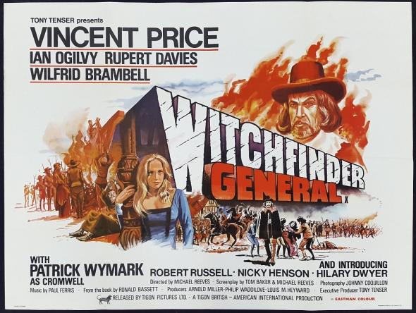 Póster promocional del Reino Unido de Witchfinder General