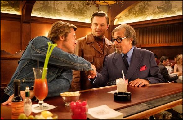 Pitt, DiCaprio y Al Pacino en una imagen de Érase una vez en... Hollywood