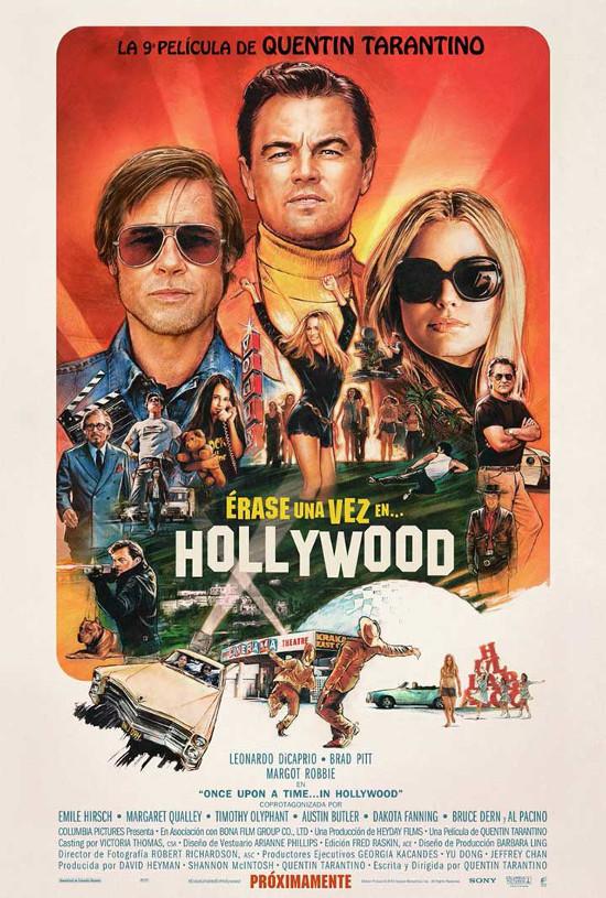 Póster español de Érase una vez en... Hollywood