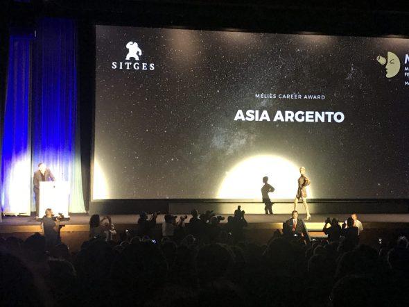 Asia Argento recoge el Premio Méliès
