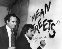 Scorsese firmando Malas calles